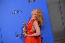 January 6, 2019 - Los Angeles, California, U.S. - Patricia Clarkson in the Press Room during the 76th Annual Golden Globe Awards at The Beverly Hilton Hotel. (Credit Image: © Kevin Sullivan via ZUMA Wire)