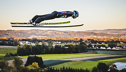 29.09.2018, Energie AG Skisprung Arena, Hinzenbach, AUT, FIS Ski Sprung, Sommer Grand Prix, Hinzenbach, im Bild Vladimir Zografski (BUL) // Vladimir Zografski of Bulgaria during FIS Ski Jumping Summer Grand Prix at the Energie AG Skisprung Arena, Hinzenbach, Austria on 2018/09/29. EXPA Pictures © 2018, PhotoCredit: EXPA/ JFK