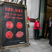 Greenpeace delivers plastic petition to Coca Cola