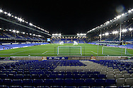 a General view inside the empty Goodison Park stadium before the game. Barclays Premier league match, Everton v Crystal Palace at Goodison Park in Liverpool, Merseyside on Monday 7th December 2015.<br /> pic by Chris Stading, Andrew Orchard sports photography.