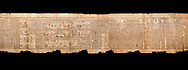 """Ancient Egyptian Book of the Dead papyrus - Spell 105 for gratifying the deceased with Ka, Iufankh's Book of the Dead, Ptolemaic period (332-30BC).Turin Egyptian Museum.  Black background<br /> <br /> The spell is """" Hail to thee, my spirit, my lifetime. Behold I am come unto thee risen, powerful, posessed of a soul, mighty.<br /> <br /> You who weighs in the balance. may truth rise to the nose of Ra, on that day of judgement, ley not my head be taken away from me.""""<br /> <br /> The translation of  Iuefankh's Book of the Dead papyrus by Richard Lepsius marked a truning point in the studies of ancient Egyptian funereal studies. .<br /> <br /> If you prefer to buy from our ALAMY PHOTO LIBRARY  Collection visit : https://www.alamy.com/portfolio/paul-williams-funkystock/ancient-egyptian-art-artefacts.html  . Type -   Turin   - into the LOWER SEARCH WITHIN GALLERY box. Refine search by adding background colour, subject etc<br /> <br /> Visit our ANCIENT WORLD PHOTO COLLECTIONS for more photos to download or buy as wall art prints https://funkystock.photoshelter.com/gallery-collection/Ancient-World-Art-Antiquities-Historic-Sites-Pictures-Images-of/C00006u26yqSkDOM"""
