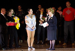 Lucija Mlinaric and Margaret Brooks during special artistic roller skating event when Lucija Mlinaric of Slovenia, World and European Champion ended her successful sports career, on November 7, 2015 in Rence, Slovenia. Photo by Vid Ponikvar / Sportida