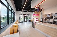 Interior design image of the Alexandria VA Dunkin' Donuts by Jeffrey Sauers of Commercial Photographics
