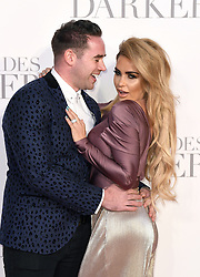 Katie Price and Kieran Hayler arriving for the Fifty Shades Darker European Premiere held at Odeon Leicester Square, London. Picture date: Thursday February 9, 2017