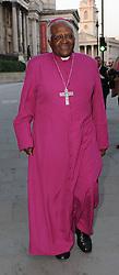09/06/2008<br />Archbishop Desmond Tutu walks in Trafalgar Square during a visit to London <br /><br /><br /> / action press