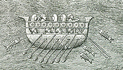 A Phoenician cargo ship - similar ships were used by the Pharaoh Necho.  Approx. (600 BC) for the voyage described by Herodotus.
