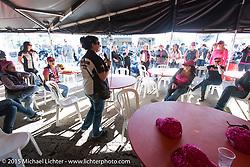 Manon Elder of Harley-Davidson at the MDA Ladies Run to Destination Daytona sponsored every year by Harley-Davidson on the Tuesday of Daytona Beach Bike Week. FL, USA. March 10, 2015.  Photography ©2015 Michael Lichter.