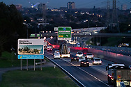 Dawn breaks on the traffic heading towards the Melbourne CBD on the Monash Freeway as the state waits to see if the lockdown will be extended as it enters 6th day of the state wide COVID-19 snap lockdown that has been placed on the State of Victoria.  (Photo by Michael Currie/Speed Media)