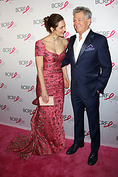 Katharine McPhee and David Foster attend the Hot Pink Party at the Park Avenue Armory in New York