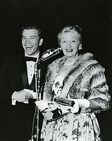 1961 Wink Martindale & Hedda Hopper at the premiere of Breakfast at Tiffany's at Grauman's Chinese Theater