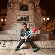 """Lisboa, 20/02/2015 - O comediante Pedro Tochas, elemento do júri do programa de talentos da RTP """"Portugal Got Talent"""", fala da sua carreira.<br /> (Paulo Alexandrino / Global Imagens)"""