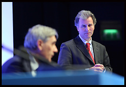 Oliver Letwin  speaking at the Conservative Party Conference in Birmingham, Monday, 8th October October 2012. Photo by: Stephen Lock / i-Images