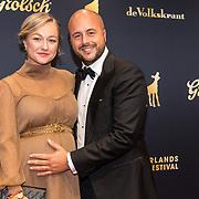 NLD/Utrecht/20191004 - Uitreiking Gouden Kalveren 2019, Carolien Spoor en partner Jon Karthaus