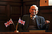"© Licensed to London News Pictures. 02/02/2012, Kingston Upon Thames,UK. 104 year-old becomes Britain's oldest new citizen. 104 year-old TAUFEEK KHANJAR became a British Citizen at a cceremony held by Surrey County Council today (01 February 2012). Mr Khanjar is originally from Iraq and worked as a jewellery maker in Baghdad. He came to the UK six years ago to live with his daughter Nada Dabis, 59, in South Cheam, Surrey, where he enjoys walking, feeding the birds, playing cards and listening to music. He is a widower with four sons and two daughters. Durning the ceremony Mr Khanjar took an oath to the Queen, pledging that he will be a faithful citizen and obey the laws of the country. He explained the secret to a long and healthy life was to ""never get stressed and be relaxed"".  Photo credit : Stephen Simpson/LNP"