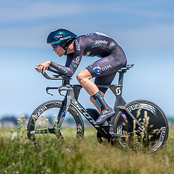 EMMEN (NED) June 16: <br />CYCLING <br />Dutch Nationals Time Trail men U23 Enzo Leijnse