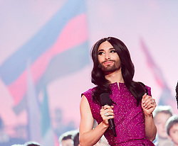 22.05.2015, Stadthalle, Wien, AUT, Eurovision Songcontest Vienna 2015, Kostümprobe für das Große Finale, im Bild Conchita Wurst // Conchita Wurst during dress rehearsal of the grand final for Eurivision Songcontest Vienna 2015 at Stadthalle in Vienna, Austria on 2015/05/22, EXPA Pictures © 2015, PhotoCredit: EXPA/ Michael Gruber