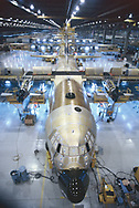 The construction of a C 130 air craft at the Lockheed plant in Marietta GA<br />Photo by Dennis Brack. bb77