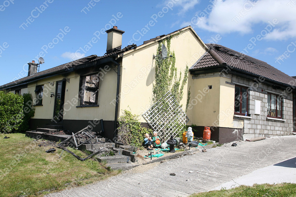 The scene of a house fire which occured at 2.30 on Sunday morning where one man named locally as Mike Kennedy tragically died in the blaze, 2 women escaped with their lives.<br /> Pic Emma Jervis / Press 22