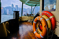 Chine, Hong Kong, traversé entre Kowloon et Hong Kong à bord du Star Ferry // China, Hong Kong, crossing from Central to Kowloon on Star Ferry