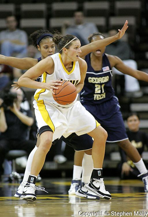 28 NOVEMBER 2007: Iowa forward Wendy Ausdemore (32) in the second half of Georgia Tech's 76-57 win over Iowa in the Big Ten/ACC Challenge at Carver-Hawkeye Arena in Iowa City, Iowa on November 28, 2007.