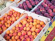 Fresh fruit in a market in Valence, Drôme region, France