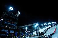 Overalls during Snowboard Superpipe Eliminations at 2014 X Games Aspen at Buttermilk Mountain in Aspen, CO. ©Brett Wilhelm/ESPN