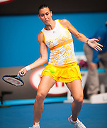 Flavia Pennetta (ITA) faced Li Na (CHN) in Women's Singles play in Day 9 of the Australian Open. Li Na won the match 6-2, 6-2 on center court at Melbourne's Rod Laver Arena.