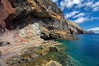 """Mission - Monk Seal<br /> Desertas Islands – Deserta Grande - Madeira, Portugal. August 2009.<br /> Landscape, Deserta Grande, entrance to """"Furna da água"""" cave - regularly visited by Monk Seals"""