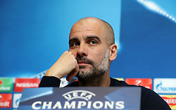 Manchester City manager Pep Guardiola during the press conference at the CFA, Manchester. PRESS ASSOCIATION Photo. Picture date: Tuesday March 6, 2018. See PA story SOCCER Man City. Photo credit should read: Martin Rickett/PA Wire