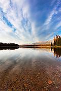 Fall on Rainy Lake, Montana.