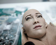 Sophia's face is made by a chemical material invented by David Hanson, chief executive of Hanson robotic
