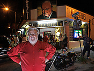 Churchill's Hideway at 5501 NE 2nd Avenue in Little Haiti celebrates it's 30th anniversary as a rock club in Miami. Here, owner Dave Daniels takes it all in while standing on 2nd Avenue.