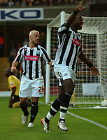 Photo: Tony Oudot/Sportsbeat Images.<br /> Watford v West Bromwich Albion. Coca Cola Championship. 03/11/2007.<br /> Ishmael Miller of West Brom celebrates his goal watched by Kevin Phillips