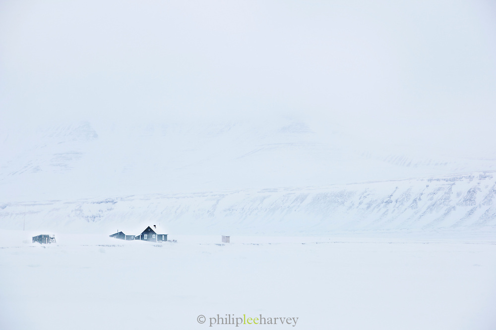 A trappers lodge, historic wilderness accomodation, near the Noorderlicht, a Dutch Schooner. Each year the Nooderlicht is frozen into the ice in Spitsbergen, and serves as an excellent base camp in the wilderness, perfect for spotting polar bears. Spitsbergen is the largest island of the arctic archipelago Svalbard, of Norway