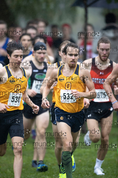 If you post on social media please tag @mundosportimages on Instagram or tag Mundo Sport Images on Facebook.<br /> <br /> (Ottawa, Canada---02 October 2021)  Will  Pidduck (Queen's Gaels) competing in the University Men's / Open Men's race at the  2021 Capital Cross Country Challenge held at Mooney's Bay in Ottawa.  Photograph 2021 Copyright Sean Burges / Mundo Sport Images