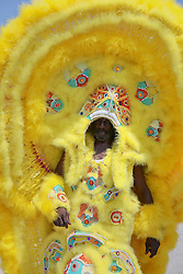 02 May 2015. New Orleans, Louisiana.<br /> Mardi Gras Indians at the New Orleans Jazz and Heritage Festival. <br /> Photo; Charlie Varley/varleypix.com