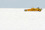 Best-cars-people-atmosphere-photos of 2009 Bonneville Speed Week- Kuntz-Jackson Racing's 1928 Ford Roadster, driven by Rex Jackson of Salem, Indiana, makes a run at the Bonneville Speed Way. August 9, 2009.  Photo by Colin E. Braley