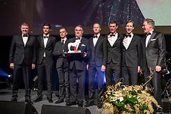 Team of the Year,  Stefan Conter, Nicola Philippaerts, Wilm Vermeir, Peter Weinberg, Niels Bruynseels, Jos Verlooy, Pieter Devos, Frank Kemperman<br /> Equigala - Dockx Dome - Brussel 2019<br /> © Hippo Foto - Dirk Caremans<br /> 22/01/2019
