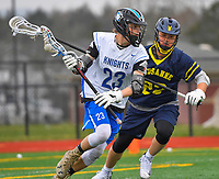 Nolensville Knights Drew McCafferty (23) during the Nolensville Knights Lacrosse vs Lausanne Collegiate on Saturday, March 2, 2019 at Nolensville High.<br /> Photo Harrison McClary/News & Observer