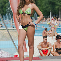 Zsuzsanna Farkas attends the Miss Bikini Hungary beauty contest held in Budapest, Hungary on August 06, 2011. ATTILA VOLGYI