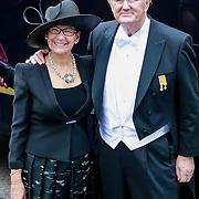NLD/Amsterdam/20130430 - Inhudiging Koning Willem - Alexander en Koningin Maxima, Joop van den Ende en partner Jeanine