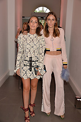 Lady Eliza Manners and Lady Alice Manners at the Tatler's English Roses 2017 party in association with Michael Kors held at the Saatchi Gallery, London England. 29 June 2017.