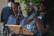 Banning Mayor Pro Tem Colleen Wallace speaks during a vigil remembering the death of George Floyd, Thursday, June 4, 2020, in Riverside, Calif. Floyd, a black man who died in Minneapolis police custody on May 25. (Dylan Stewart/Image of Sport)