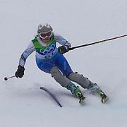 Winter Olympics, Vancouver, 2010.Zana Novakovic, Bosnia & Herzegovina , in action in the Alpine Skiing Ladies Slalom at Whistler Creekside, Whistler, during the Vancouver Winter Olympics. 24th February 2010. Photo Tim Clayton