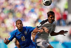 June 22, 2018 - SãO Petersburgo, Rússia - SÃO PETERSBURGO, MO - 22.06.2018: BRAZIL VS. COSTA RICA - Neymar Jr. of Brazil plays for Celso Borges of Costa Rica during a match between Brazil and Costa Rica for the second round of Group E of the 2018 World Cup held at the Krestovsky Stadium in St Petersburg, Russia. (Credit Image: © Marcelo Machado De Melo/Fotoarena via ZUMA Press)