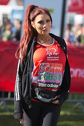 © Licensed to London News Pictures. 21/04/2013. London, England. Picture: Amy Childs. Celebrity Runners at a photocall before the start of the Virgin London Marathon 2013 race. Many wore black ribbons to pay their respect for those who died or were injured in the Boston Marathon. Photo credit: Bettina Strenske/LNP