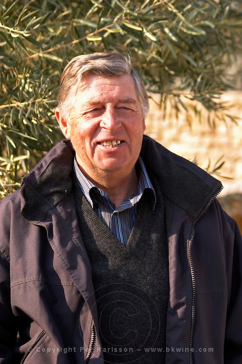 Jean-Pierr Brun owner of Olive oil mill Moulin du Calanquet de Saint St Remy de Provence, Bouches du Rhone, France