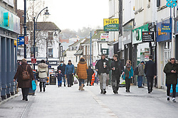 © Licensed to London News Pictures 02/02/2021.        Maidstone, UK. Shoppers in Maidstone High Street in Kent today as door to door testing for the South African variant of Covid-19 starts in the Maidstone area. Photo credit:Grant Falvey/LNP