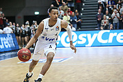 Basketball: 1. Bundesliga, Hamburg Towers - Hakro Merlins Crailsheim 91:92, Hamburg, 29.02.2020<br /> Demarcus Holland (Towers)<br /> © Torsten Helmke