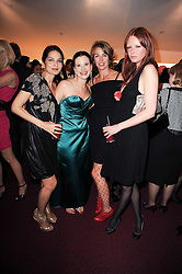 Left to right, YASMIN MILLS, OLGA BALAKLEETS, ASSIA WEBSTER and OLIVIA INGE at the World War 2 Commemoration Gala Concert marking the 65th Anniversary of the end of The War in Europe, held at The Royal Albert Hall, London on 10th May 2010.
